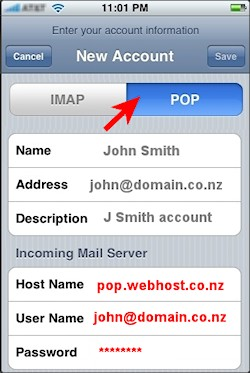 POP email account